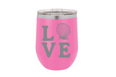 LOVE with Seashell Insulated Tumbler 12 oz