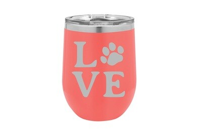 Love Customized with Dog or Cat Print Insulated Tumbler 12 oz