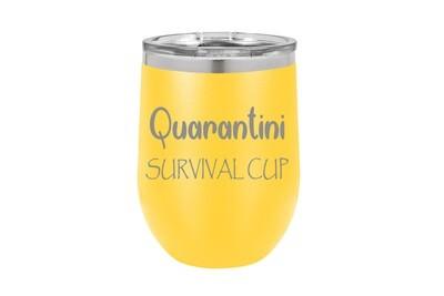 Quarantini Survival Cup Insulated Tumbler 12 oz