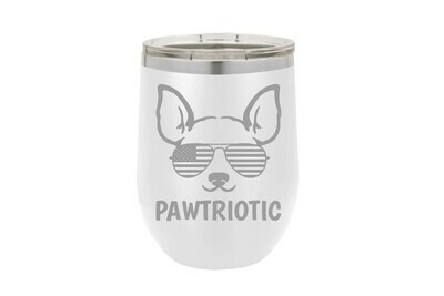 Pawtriotic w/Dog Insulated Tumbler 12 oz