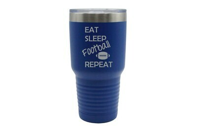 Eat Sleep (Choose from 19 Sports) Repeat Insulated Tumbler 30 oz