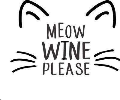 Meow Wine Please Insulated Tumbler 12 oz