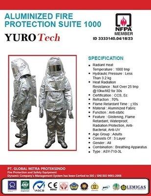 Baju Tahan Api Aluminium - HIGH TEMPERATURE PROTECTIVE FIREMAN SUIT