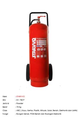 STARVVO ABC Powder Trolley 75 Kg