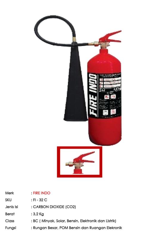 FIRE INDO PORTABLE CARBON DIOXIDE (CO2) 3,2 Kg