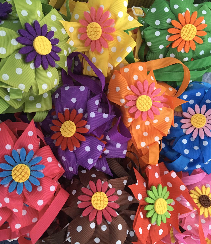 Polkadot Flower Bow Ties