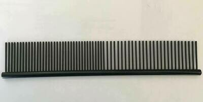 "COMB - Black, Round Back Anti Static, 7.5"" long, 1"" teeth."