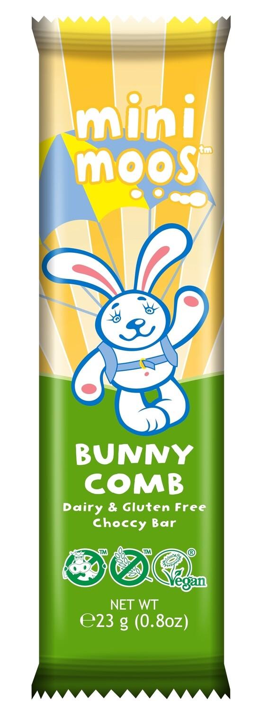 Moo Free - Mini Moos Bunnycomb Chocolate Bar 25g