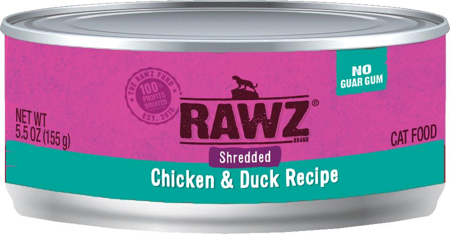 RAWZ  Shredded Variety - Cat food cans 5.5oz