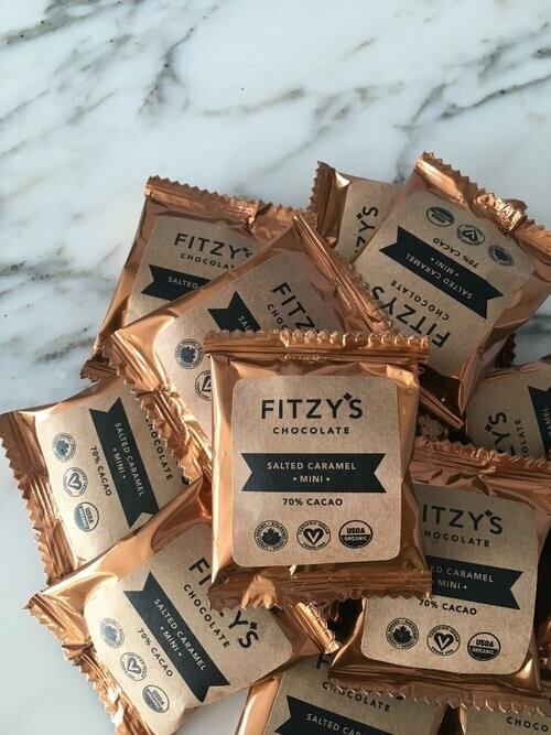 Fitzy's - Dark Vegan Chocolate Salted Caramel Mini - 10g