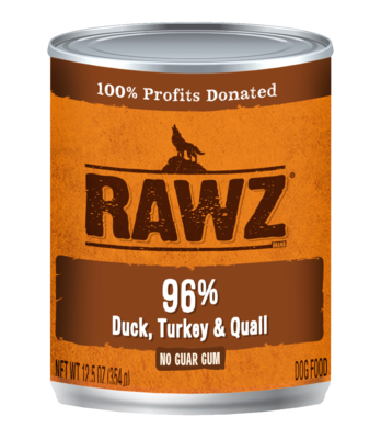 RAWZ 96% Meat Gum Free Pâté Dog Food Cans 12.5oz