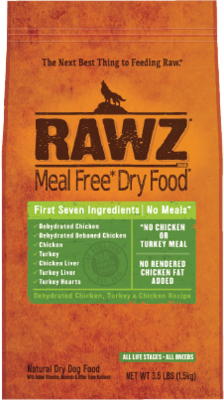 RAWZ Meal Free Dry Dog Food - Dehydrated Chicken, Turkey & Chicken Recipie. 3.5lb *PICK UP ONLY*