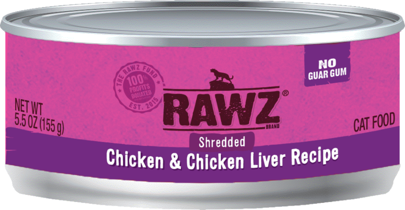 RAWZ Shredded Gum Free Cans - for Cats - 5.5oz