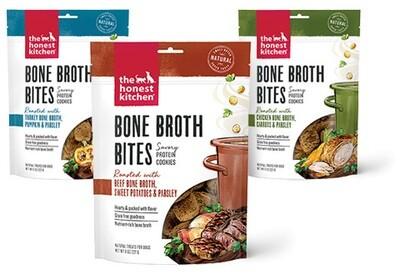 Honest Kitchen - Bone Broth Bites, Savory Protein Dog Cookies - GMO Free.