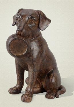 Resin Dog with Dish