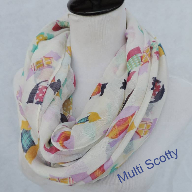 Infinity Scarf - Dog prints