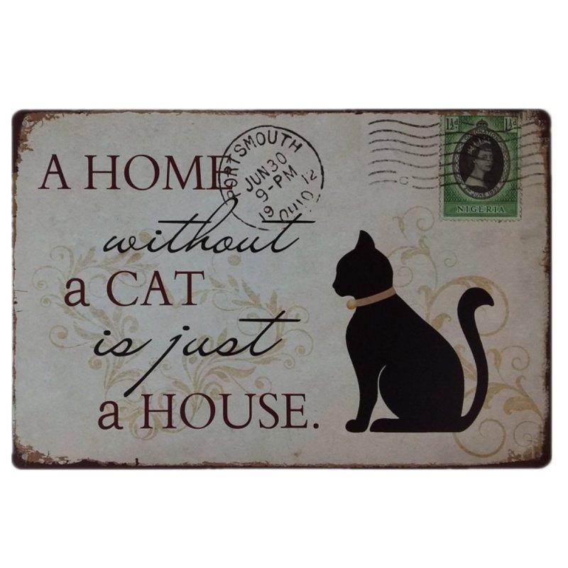 Tin Sign - Cat