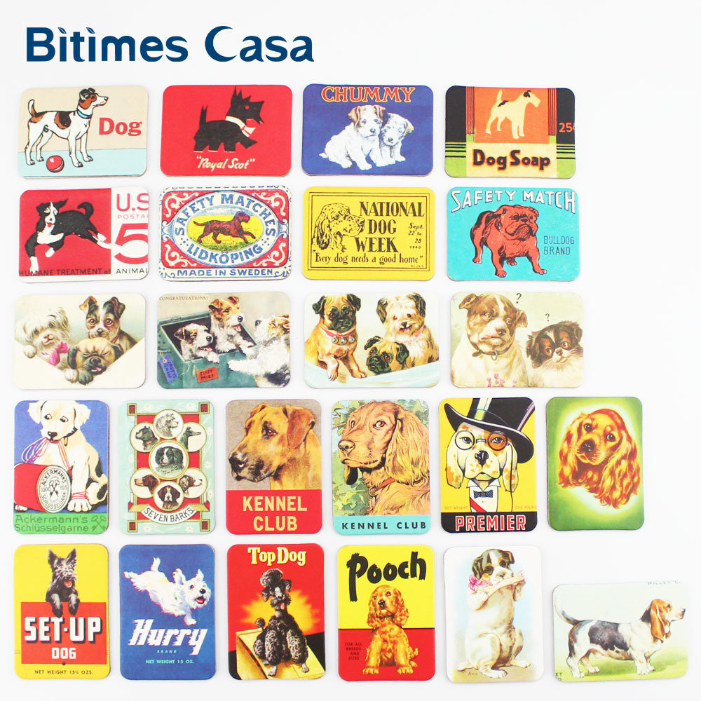Fridge Magnets - Vintage Dogs - 24 designs