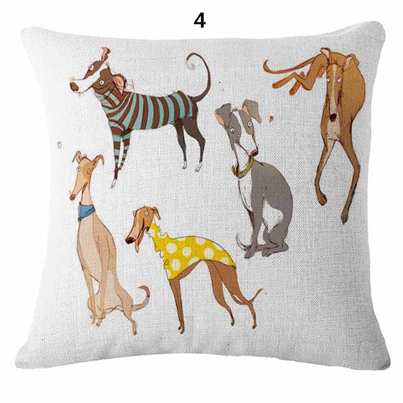 Fun Greyhound Cushion Cover