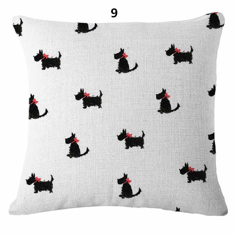 Scotty Dot Scottish Terrier Cushion Cover