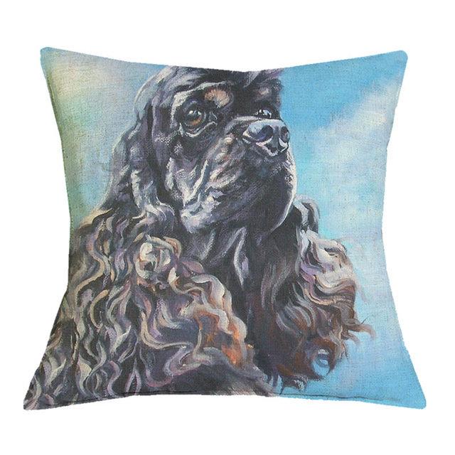 American Cocker Spaniel (black) Cushion Cover