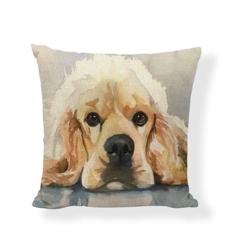 American Cocker Spaniel (fawn) Cushion Cover