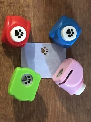 Craft paper paw punch.