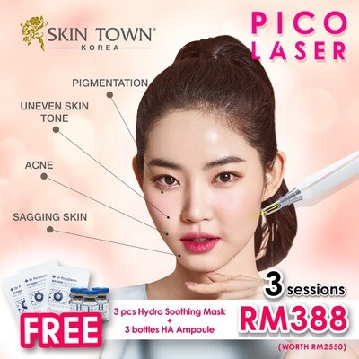 NEW CUSTOMER PROMO: 3 x Pico Laser + FREE Hydro Soothing Mask & HA Ampoule
