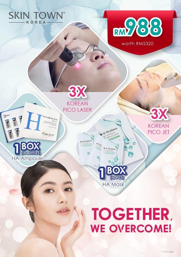 "MCO 2.0 Promo Package - 3 x Pico Laser & 3 x Pico Jet +  ""HA"" Mask &  ""HA"" Ampoule"