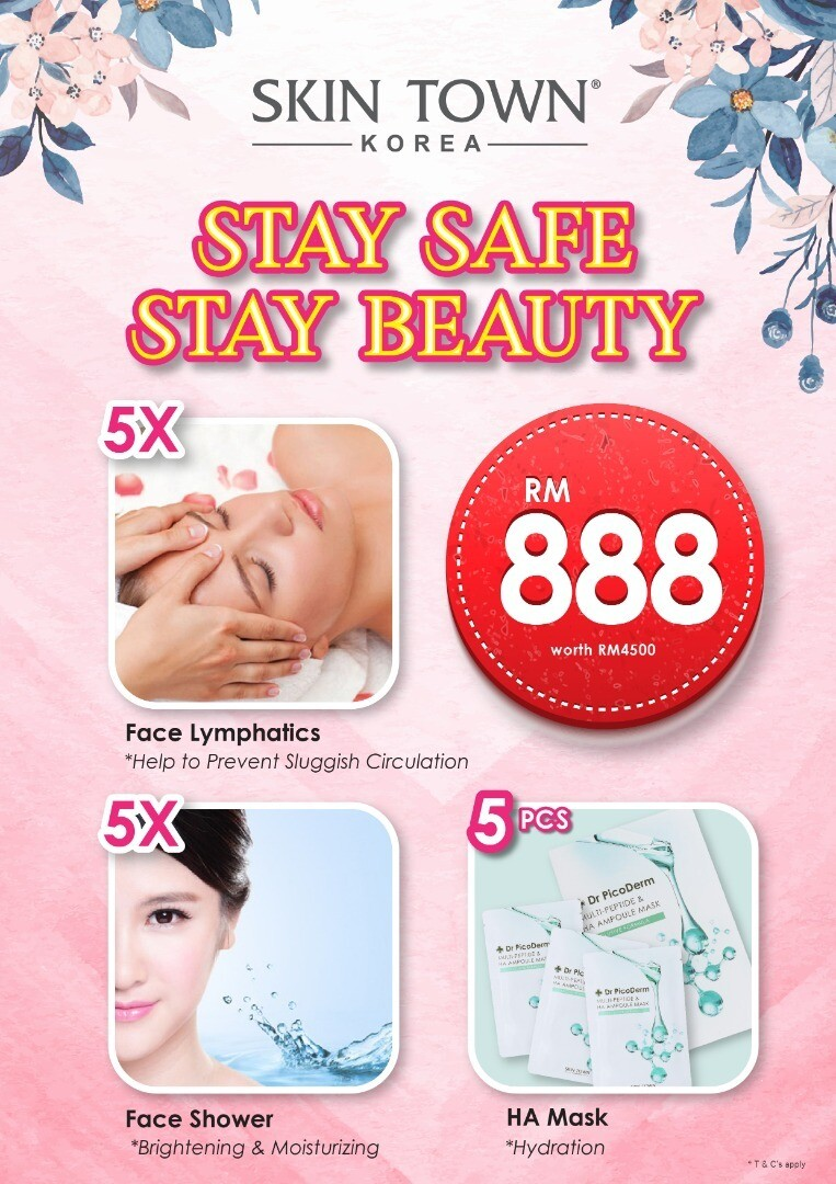 """MCO 2.0 Promo Package - 5 x Face Lymphatic & 5 x Face Shower t +  """"HA"""" Mask"""