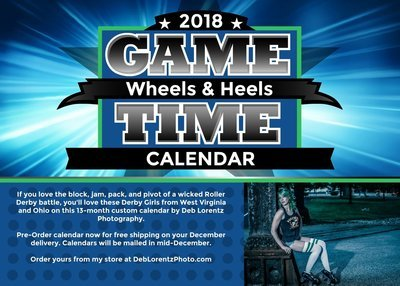 2018 Wheels & Heels Roller Derby Calendar