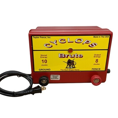 Cyclops BRUTE, Plug-in/AC Powered, 8 Joule Electric Fence Charger - Up to 100 Acres