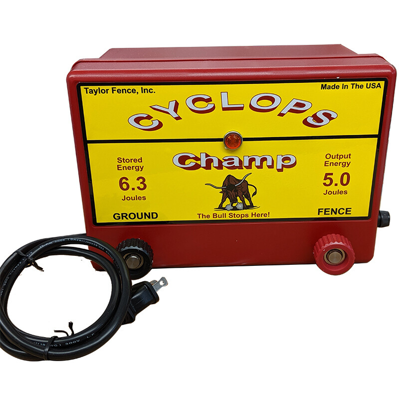 Cyclops CHAMP, Plug-In/AC Powered, 5 Joule Electric Fence Charger - up to 50 Acres