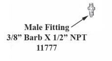 Trojan Male Fitting 3/8