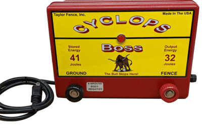 Cyclops THE BOSS, Plug-In/AC Powered, 32 Joule Electric Fence Charger - Up to 1000 Acres