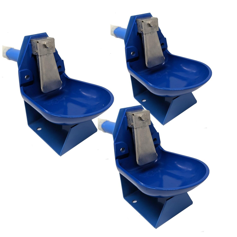 Trojan Gravity Flow Barrel Waterer Kit 3 pack