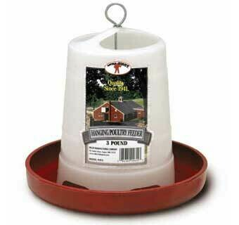 Little Giant 3 LB Plastic Hanging Poultry Feeder