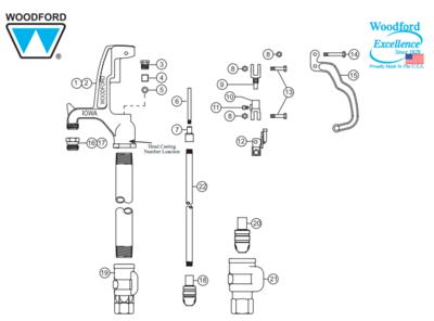 """Woodford 3/4"""" Hydrant Repair Kit RK-Y34"""
