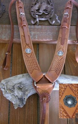 Buckaroo Leather Pulling Breast Collar