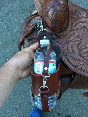 Buckaroo Leather -  Leather Water Bottle Holder