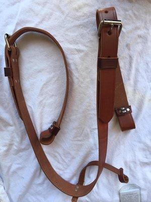 Buckaroo Leather -  Golden Bridle Flank Set