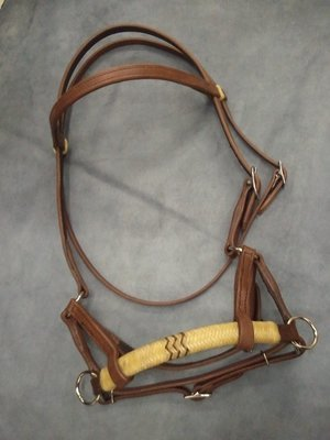 Buckaroo Ultimate Sidepull Headstall with Rawhide Nose