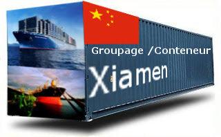 Chine Xiamen groupage maritime