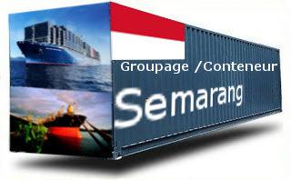 Indonésie Semarang  groupage maritime