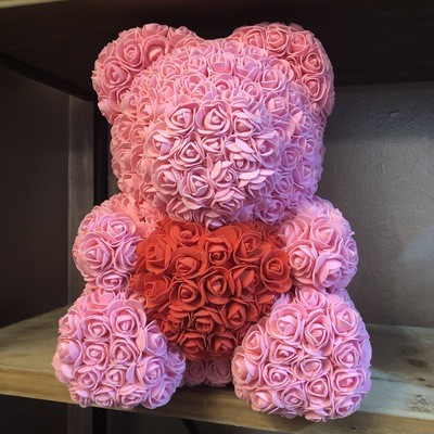 Extra Large 40cm Pink Forever Rose Teddy