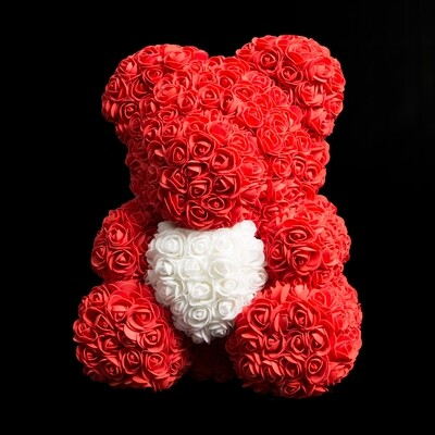 Extra Large 40cm Red Forever Rose Teddy