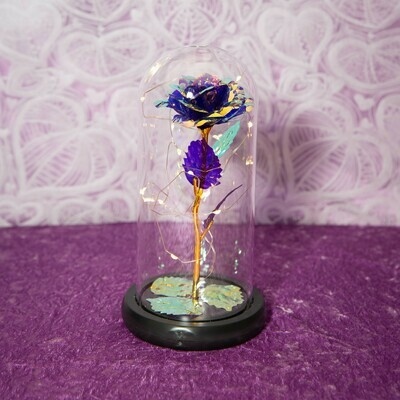 Purple Galaxy Rose Dome