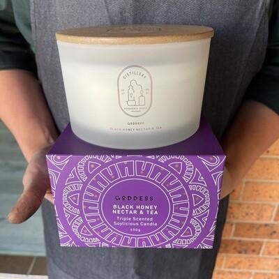 Black Honey & Tea (Goddess)  Triple Scented Candle
