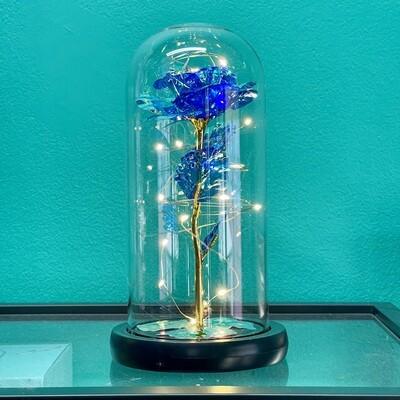 Blue Galaxy Rose Dome