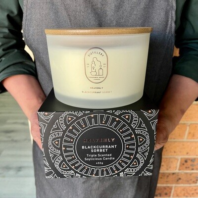 Distillery Soy Candle HEAVENLY Blackcurrant Sorbet